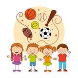Kids sports Stock Photography
