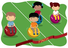 Kids Sports. Young children competing in a race Royalty Free Stock Images