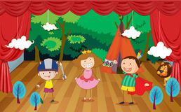 Kids on a stage Royalty Free Stock Images