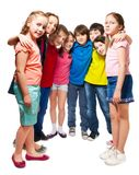 Kids standing in semi-circle Royalty Free Stock Photos