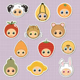 Kids stickers Royalty Free Stock Images