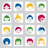 Kids stickers Stock Images