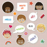 Kids stickers Stock Photo