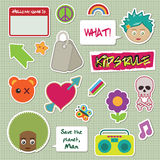 Kids stickers Stock Photography