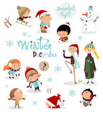 Kids story in winter Royalty Free Stock Photos