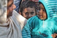 Kids on the street. Kids on street Patiala , Punjab India Royalty Free Stock Photos