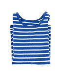 Kids striped shirt isolated folded Royalty Free Stock Photography