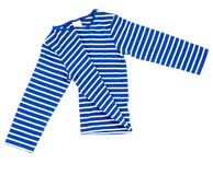 Kids striped shirt isolated on white folded Royalty Free Stock Images