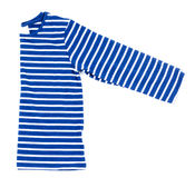 Kids striped shirt isolated on white square Royalty Free Stock Image