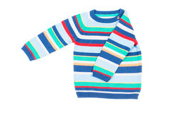 Kids striped sweater isolated Royalty Free Stock Photography