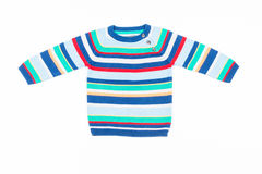 Kids striped sweater isolated on white Royalty Free Stock Photo