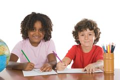Kids studding together Royalty Free Stock Image