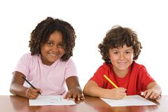 Kids studding together Royalty Free Stock Photography
