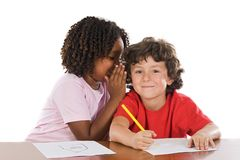 Kids studding together Stock Image
