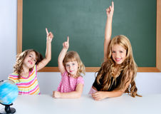 Kids Student Clever Girls In Classroom Royalty Free Stock Image