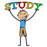 Kids Study Means Tutoring Child And Schooling Stock Images