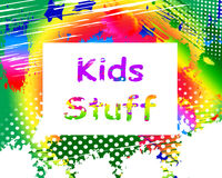 Free Kids Stuff On Screen Means Online Activities For Children Stock Photo - 43691140