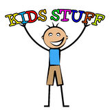 Kids Stuff Represents Free Time And Child Royalty Free Stock Photos