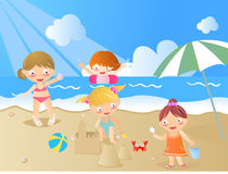 Kids is summer Stock Images