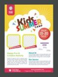 Kids Summer Camp Banner poster design template for Kids vector illustration