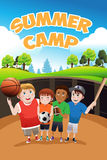 Kids summer camp flyer Stock Photos