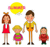 Kids summer camp isolated on white background. Vector illustrati. On eps 10 Stock Photos