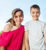 Kids at summer Royalty Free Stock Photo
