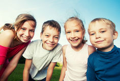 Kids at summer Stock Images