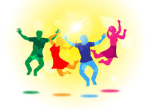 Kids Sun Means Youths Youngsters And Joy. Jumping Joy Representing Youth Summer And Children Royalty Free Stock Photos