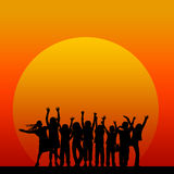Kids sunset Royalty Free Stock Images