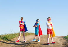 Kids superhero Royalty Free Stock Images