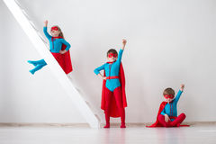 Kids superheroes. Royalty Free Stock Images