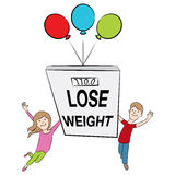 Kids Supporting Healthy Weight Loss Royalty Free Stock Image