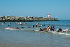 Kids surfschool Royalty Free Stock Photos