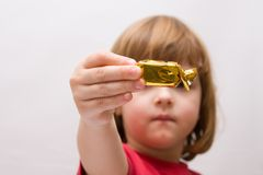 Kids and sweets Stock Images