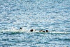 Kids swimming Stock Photos