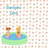 Kids in the swimming pool Royalty Free Stock Photo
