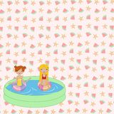 Kids in the swimming pool Stock Image