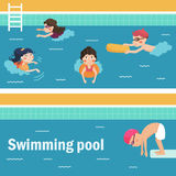 Kids in the swimming pool. Stock Image