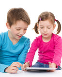 Kids with tablet Stock Photo