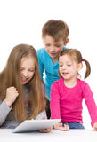 Kids with tablet Royalty Free Stock Photography