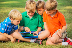 Kids with Tablet Computer Stock Photo
