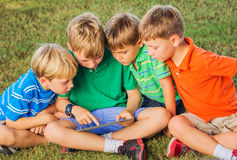 Kids with Tablet Computer Royalty Free Stock Images