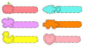 Kids Tag. Illustration of set of tag for kids with different element Stock Photo