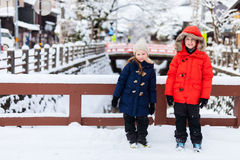 Kids in Takayama town Stock Photography