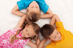 Kids taking a break Royalty Free Stock Photography