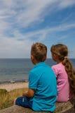 Kids taking a break Stock Images