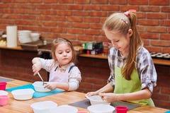 Kids Taking Part In Baking Workshop Royalty Free Stock Photography