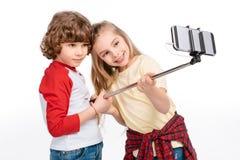 Kids taking selfie royalty free stock image