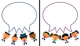 Kids talk balloons Stock Image